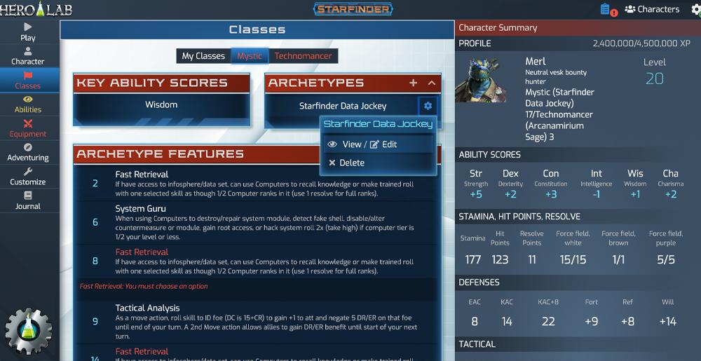 Hero Lab Online – Lone Wolf Development